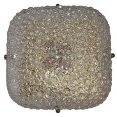 Square Molded Glass Light Fixture