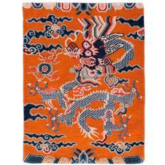 Tibetan Dragon Rug 2x2.6
