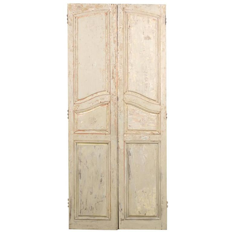 Pair of French Early 19th Century Wooden Doors