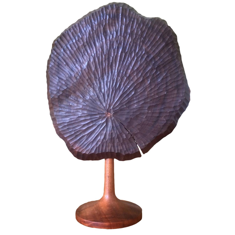 Nice Jerry Glaser Studio Made Carved Walnut Sculpture For Sale At 1stdibs