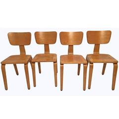 Set of Four Thonet Wood Dining Chairs