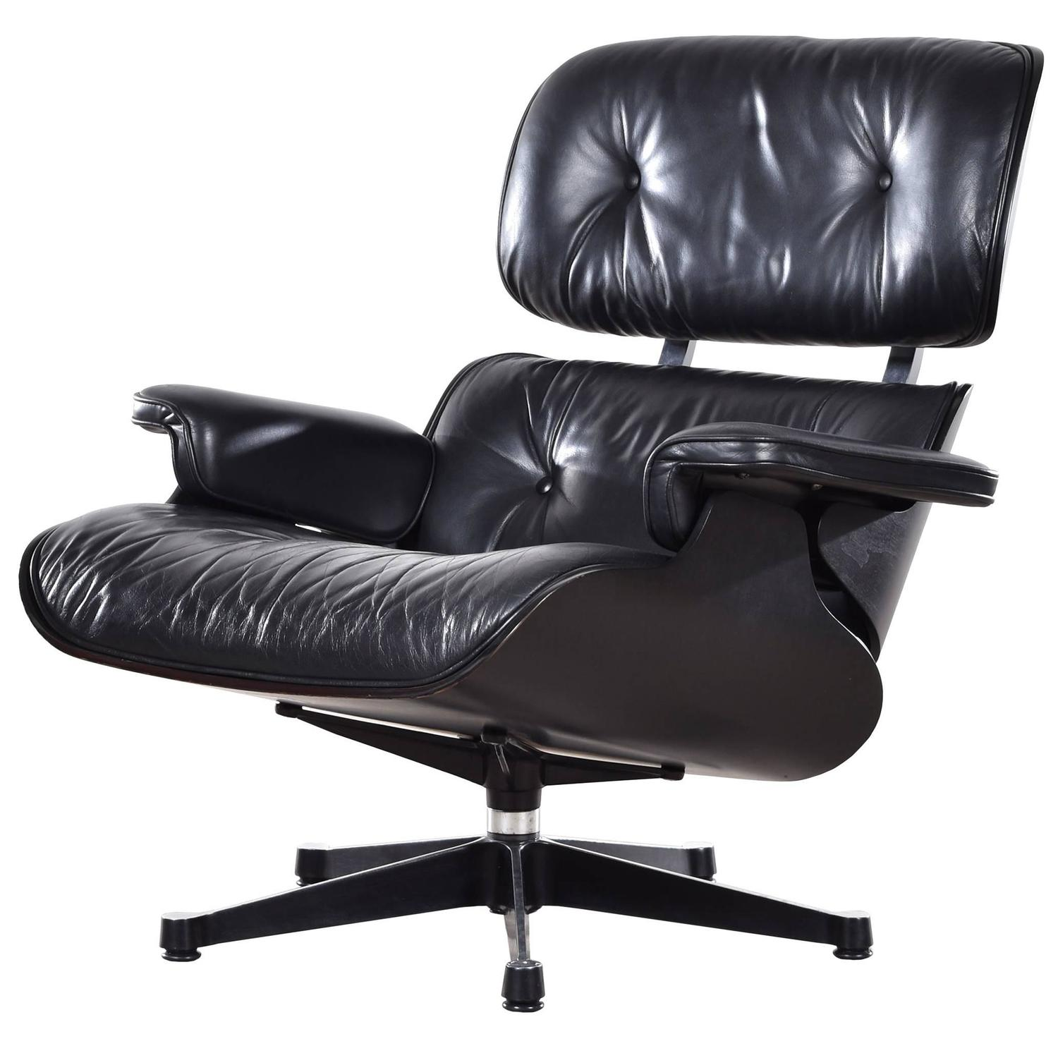 eames black lounge chair for vitra for sale at 1stdibs. Black Bedroom Furniture Sets. Home Design Ideas