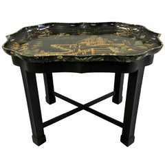 Chinoiserie Papier Mâché Tray on Stand by Henry Clay