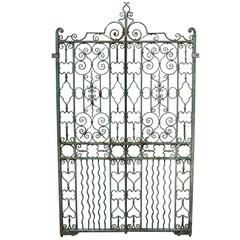 Pair of Antique English Wrought Iron Pedestrian Gates