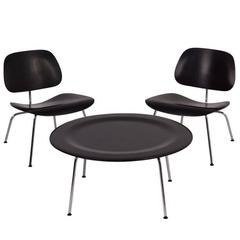 LCM Lounge Chairs and Coffee Table Set, Charles and Ray Eames for Herman Miller