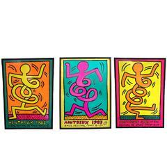 Set of Three 1983 Keith Haring Jazz Posters