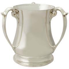 Sterling Silver Presentation/Champagne Cup, Art Nouveau Style, Antique Edwardian