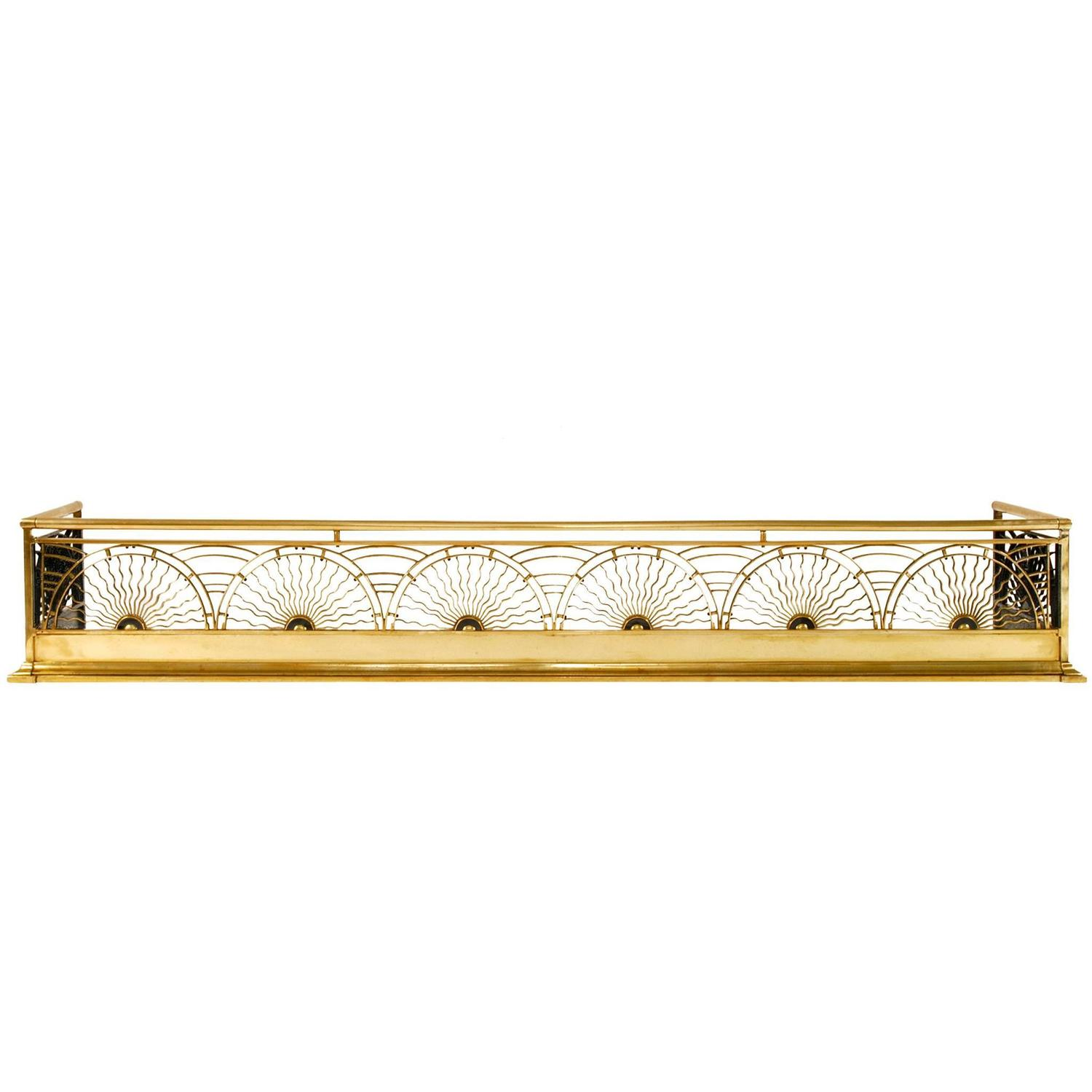 thomas jeckyll brass fireplace fender for sale at 1stdibs