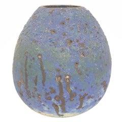 Large Hand-Painted Terracotta Vase