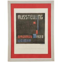Rare Original Watercolor Project for a Bauhaus Exhibition Poster, P. Keler, 1923