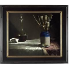 "Still Life painting ""Studio Accoutrements"" by Aaron Stills"