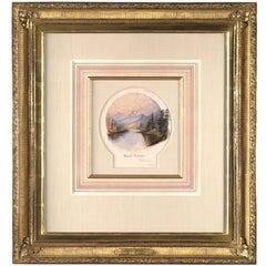 19th Century Watercolor of Mount Moran by George Beard