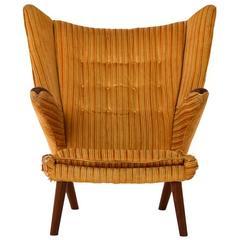 Danish Modern Wegner Bamsestol Lounge Chair
