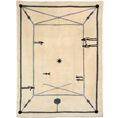 "Diego Giacometti ""Le Rencontre"" Wool Carpet, 1985"