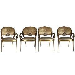Four Exuberant Dining Chairs from Well-Known Spanish Designer Vidal Grau