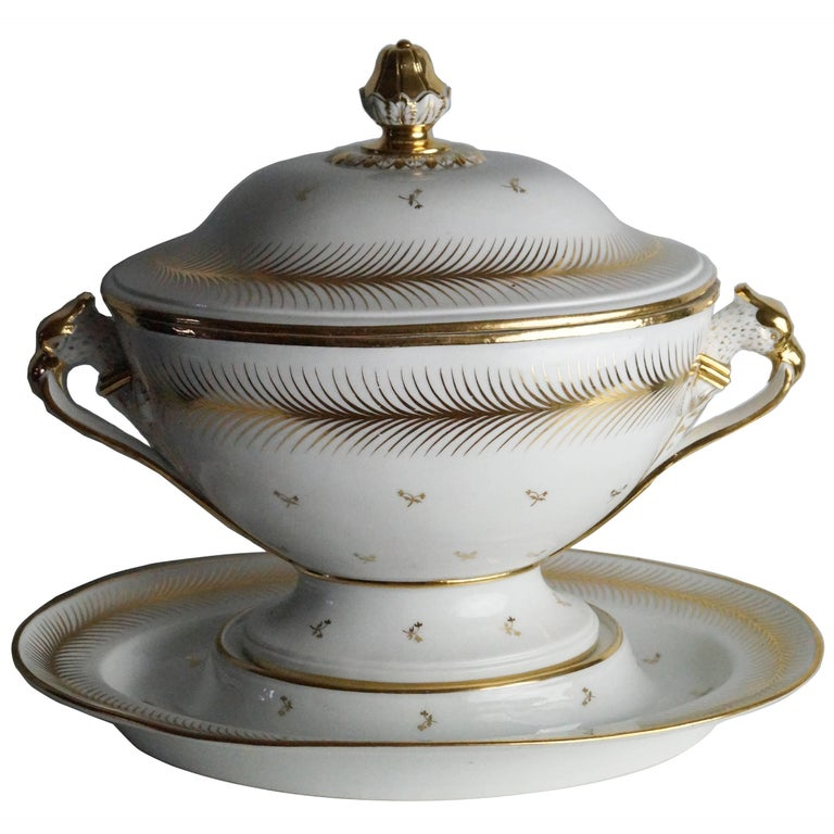 Large Tureen with under Plate, 1800-1820 For Sale