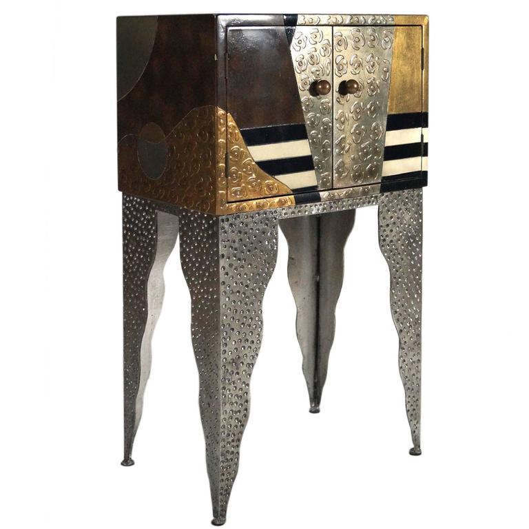 Small Sottsass Memphis Style Cabinet, Usa, 1980s For Sale