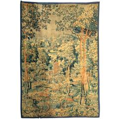 Monumental Flemish Handwoven 17th Century Tapestry