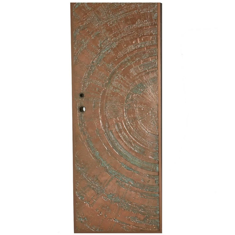 Poured Bronze 'Sunburst' Door by Sherill Broudy for Forms and Surfaces For Sale
