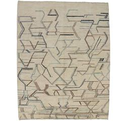 Contemporary Moroccan Style Area Rug with Modern Style