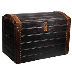 19th Century Wood and Metal Trunk