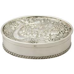 Sterling Silver Jewelry/Trinket Box, Art Nouveau Style, Antique Edwardian