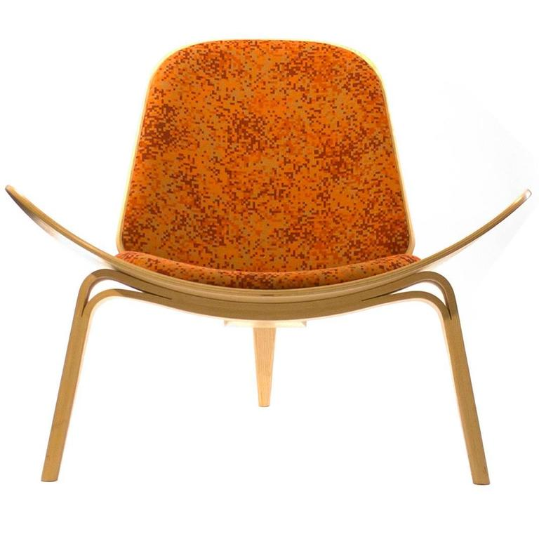 Carl Hansen And Son CH007 Shell Lounge Chair By Hans Wegner Denmark For Sale