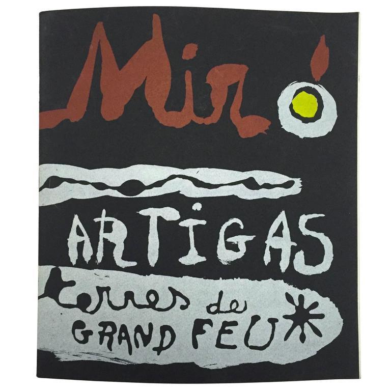 """""""Miró & Artigas – Terres De Grand Feu"""" Catalogue - 1956 For Sale"""