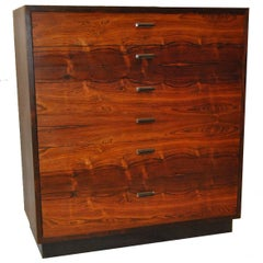 Mid-Century Rosewood Six Drawer Chest Attributed to Harvey Probber