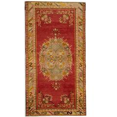 Antique Rugs, Anatolian Turkish Rug, luxury Red rug