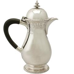 Sterling Silver Coffee Jug Antique George V