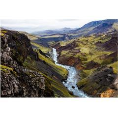 Glacial Erosion Icelandic Wonder Photograph