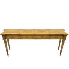 Vintage Karges Walnut French Regency Style Extension Server or Console Table