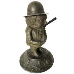 Small American Figural Cigar Lighter, circa 1880s
