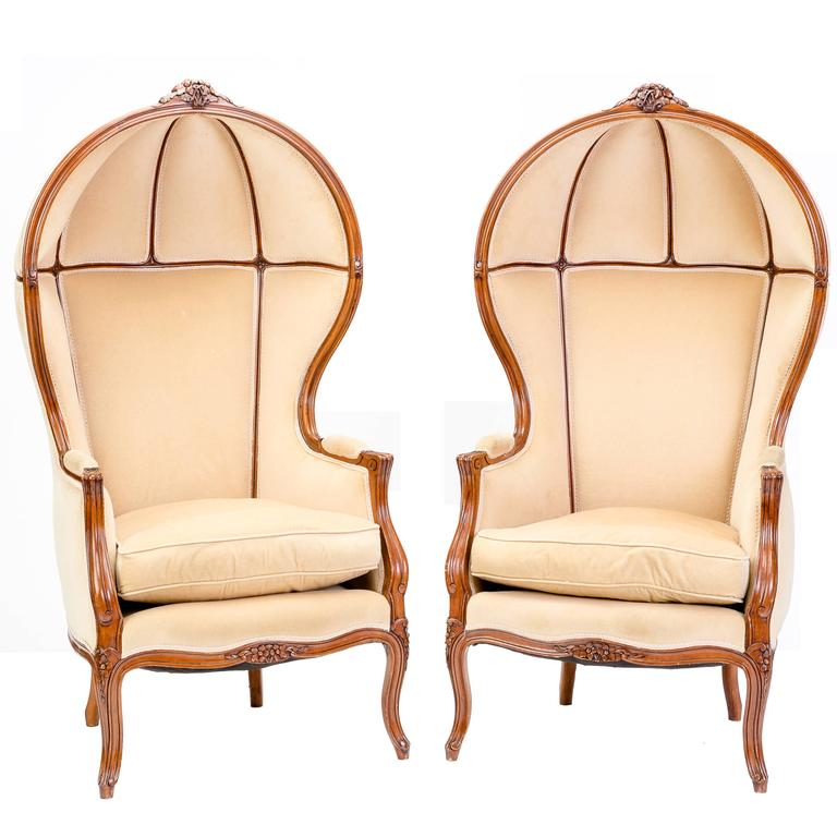 Pair Of 19th Century Style Downton Porter Chairs For Sale