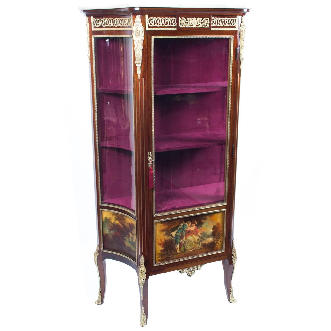 - 19th Century French Vernis Martin Display Cabinet For Sale At 1stdibs