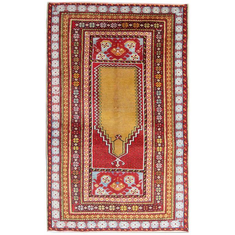 Antique Vintage Turkish Rugs: Antique Turkish Milas Rug For Sale At 1stdibs