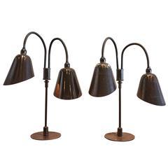 Pair of Poul Henningsen & Arne Jacobsen Table Lamps, Denmark, 1940