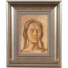 Female Study, Oil on Canvas