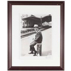 Silver Print of Frank Sinatra by Luc Fournol