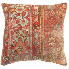 Shabby Chic Persian Pillow with Pink Backing