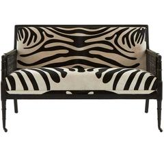 Vintage Faux Bamboo Settee