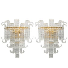 Italian Murano Felci Glass Sconces by Barovier e Toso
