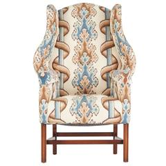 Mahogany Chippendale Style Wingback Chair