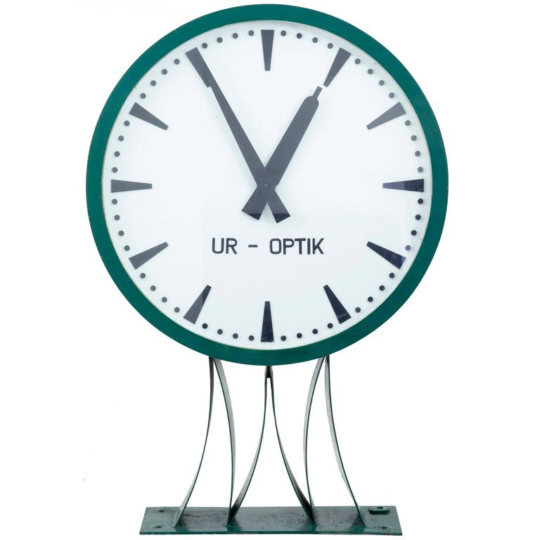 Rare Large Westerstrands Swedish Installation Wall Clock For Sale