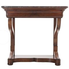 French 19th Century Restoration Console with Marble Top