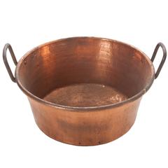 Large 19th Century French Copper Jam Pan