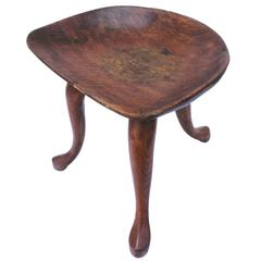 Vintage Jean of Topanga Wooden Stool
