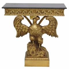 Georgian Style Carved Eagle Giltwood Console Table