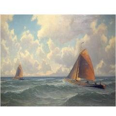 'Under Full Sail' Nautical Scene by Henk Dekker
